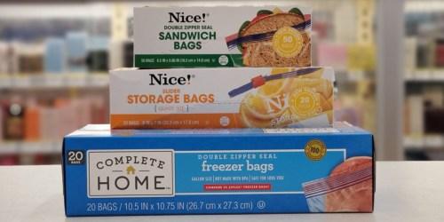 Buy 1, Get 2 FREE Nice! Brand Storage Bags at Walgreens   Just 93¢ Each