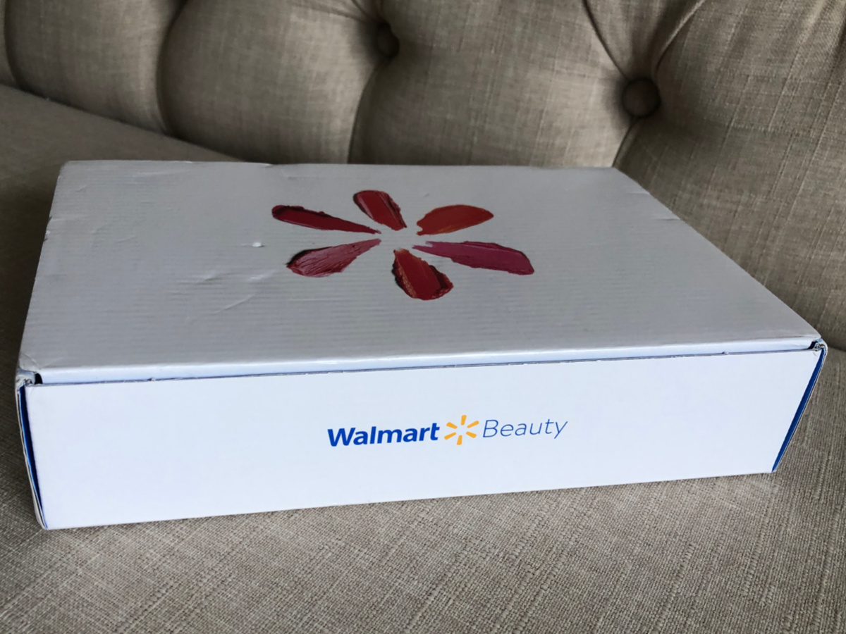 closed white box of walmart beauty box spring