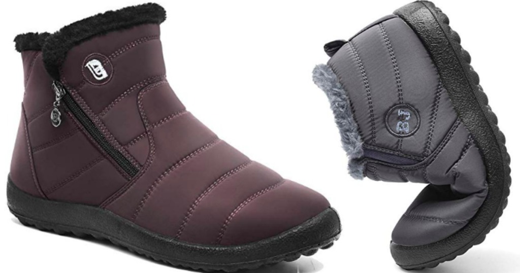 two pairs of Waterproof Boots on Amazon