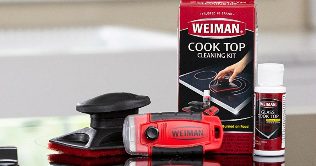 Weiman Cook Top Cleaning Kit with polish, sponge and scraper