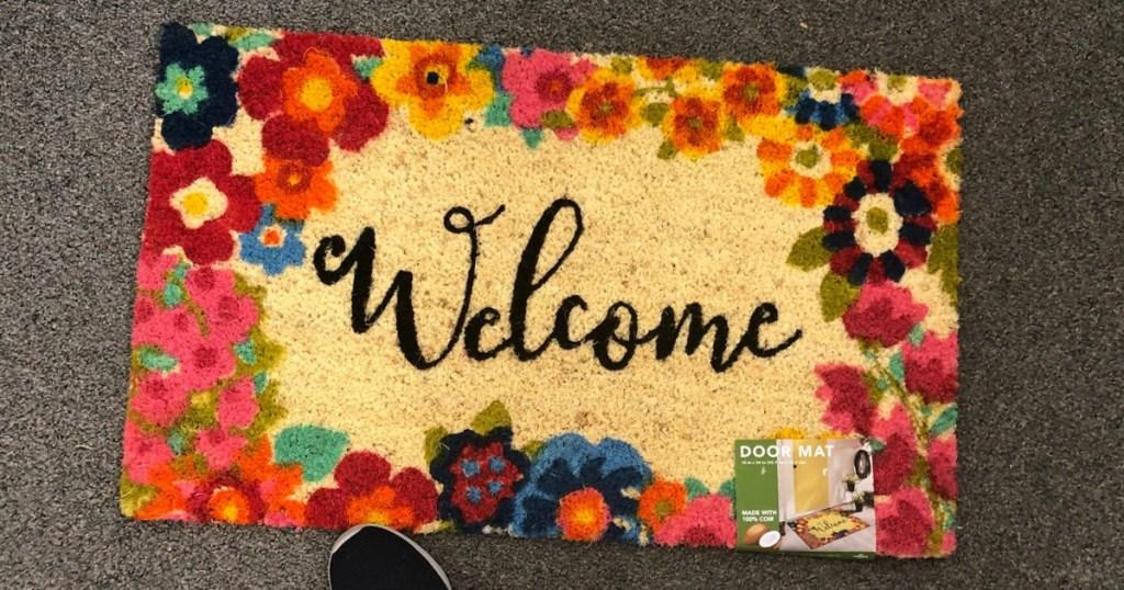 Welcome Flower Door Mat