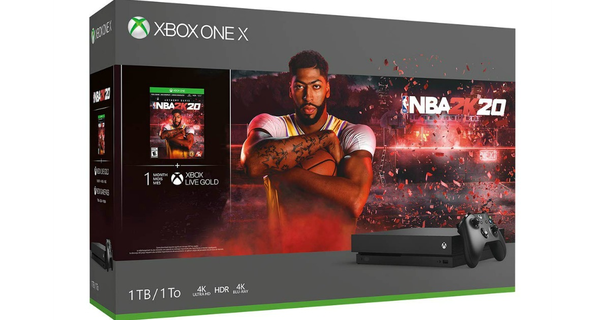 Xbox One X 1TB NBA 2k20 Bundle box