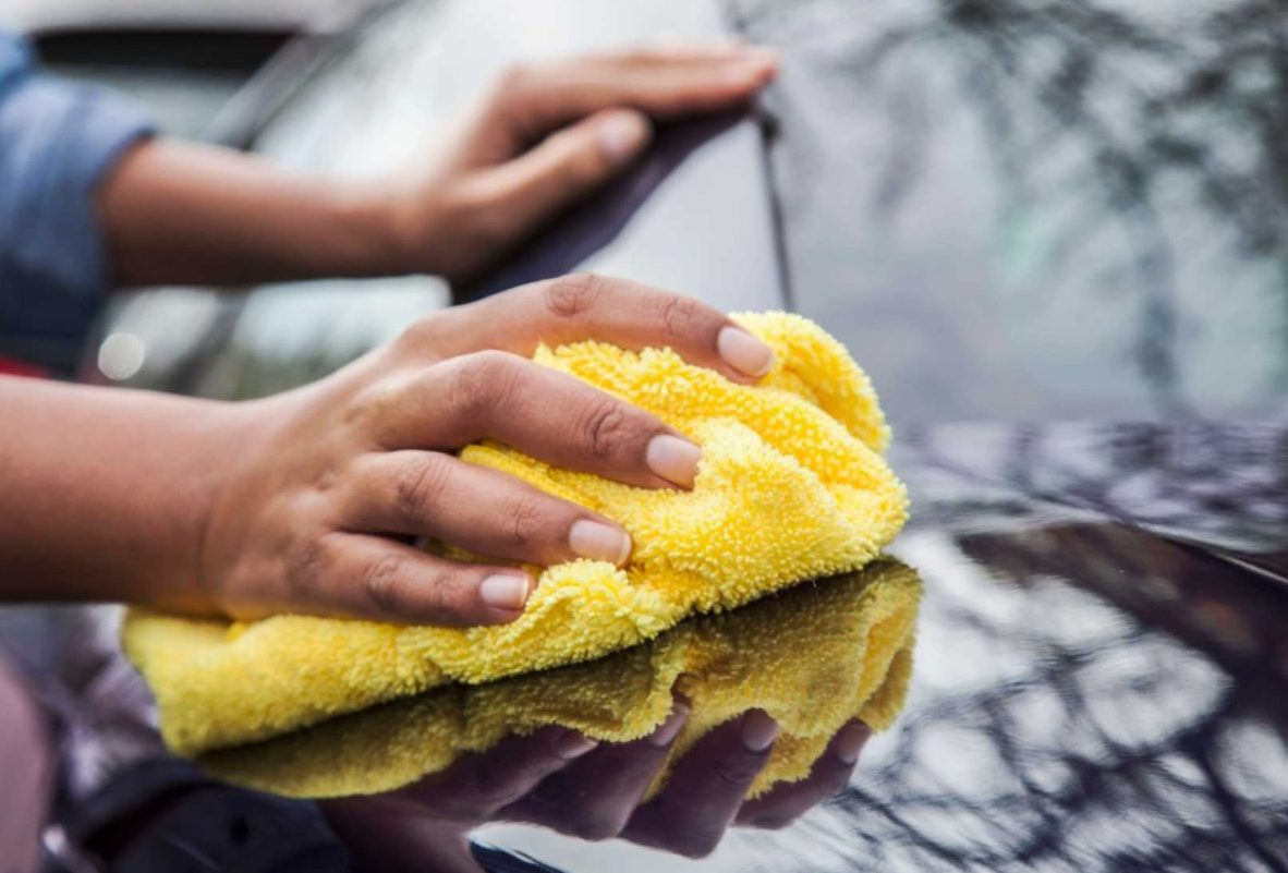 Yellow microfiber cloth