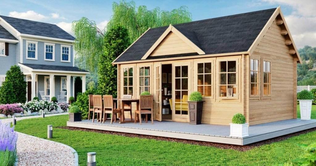 guest house in backyard