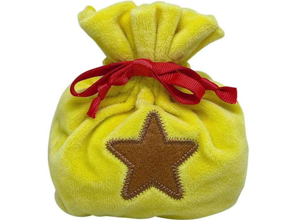 yellow bag with a star on it