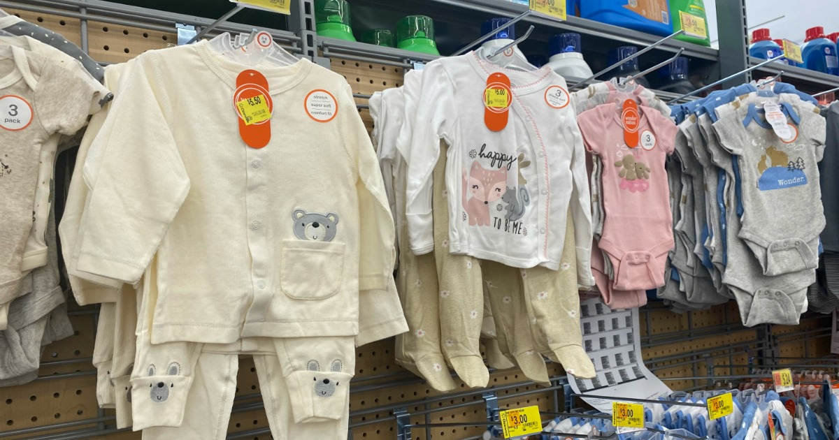 baby apparel clearance at Walmart