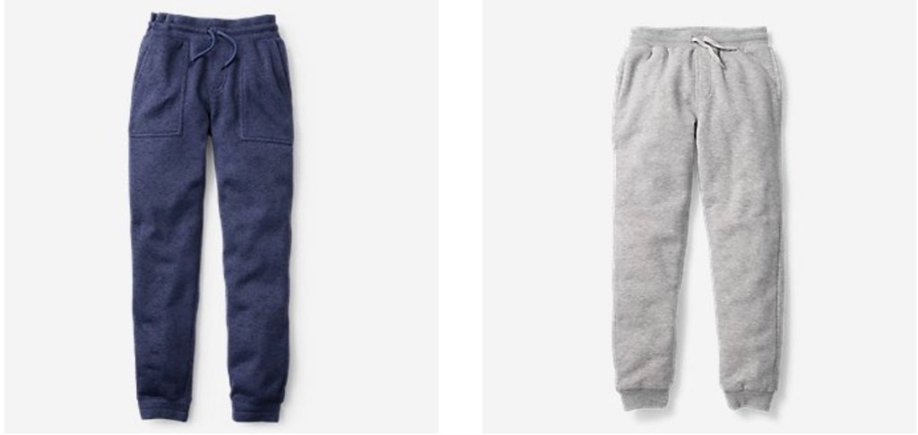boys eddie bauer pants in blue and grey