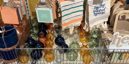 Pretty Glass Bud Vases Just $1 at Target's Bullseye's Playground