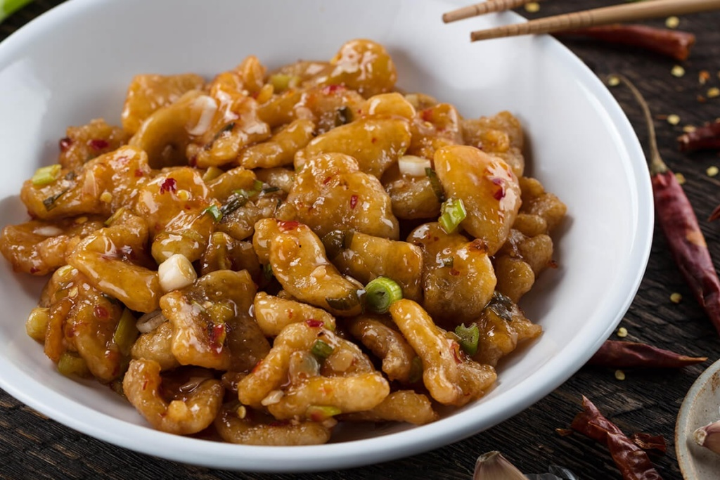 PF Chang's spicy chicken in a dish
