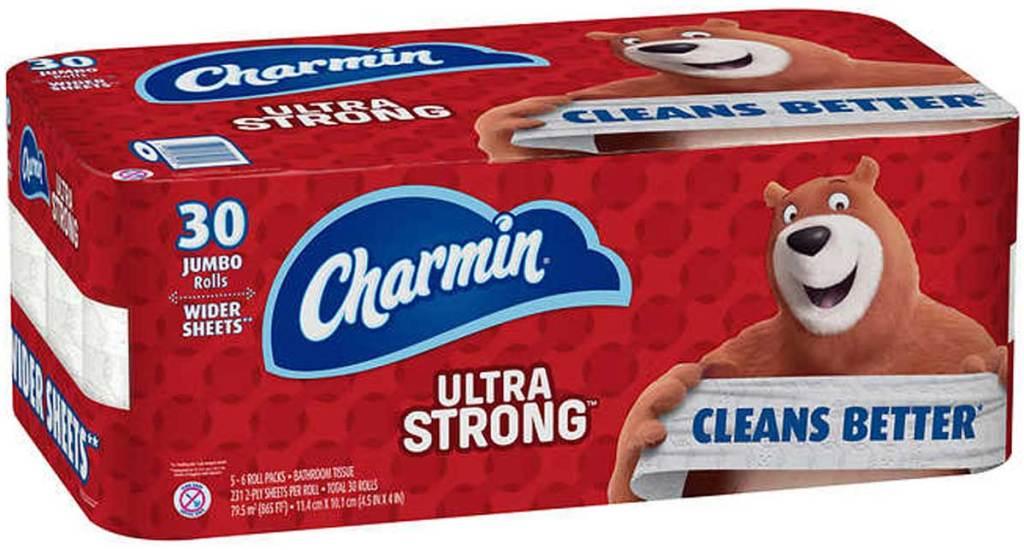 pack of Charmin Ultra Strong Bath Tissue 30ct stock image