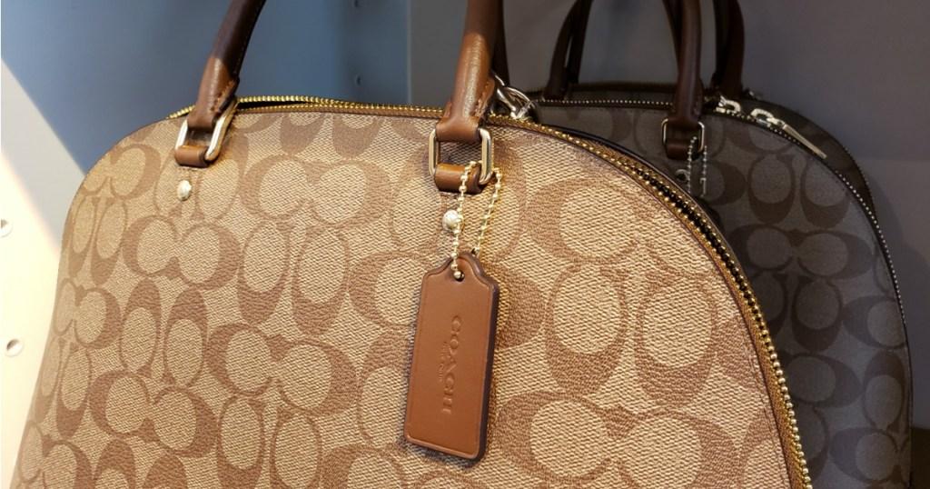 Coach handbag that is brown