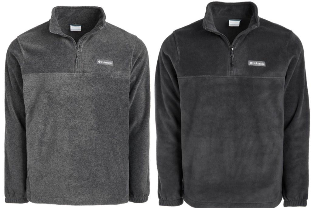 two columbia men's fleece pullovers