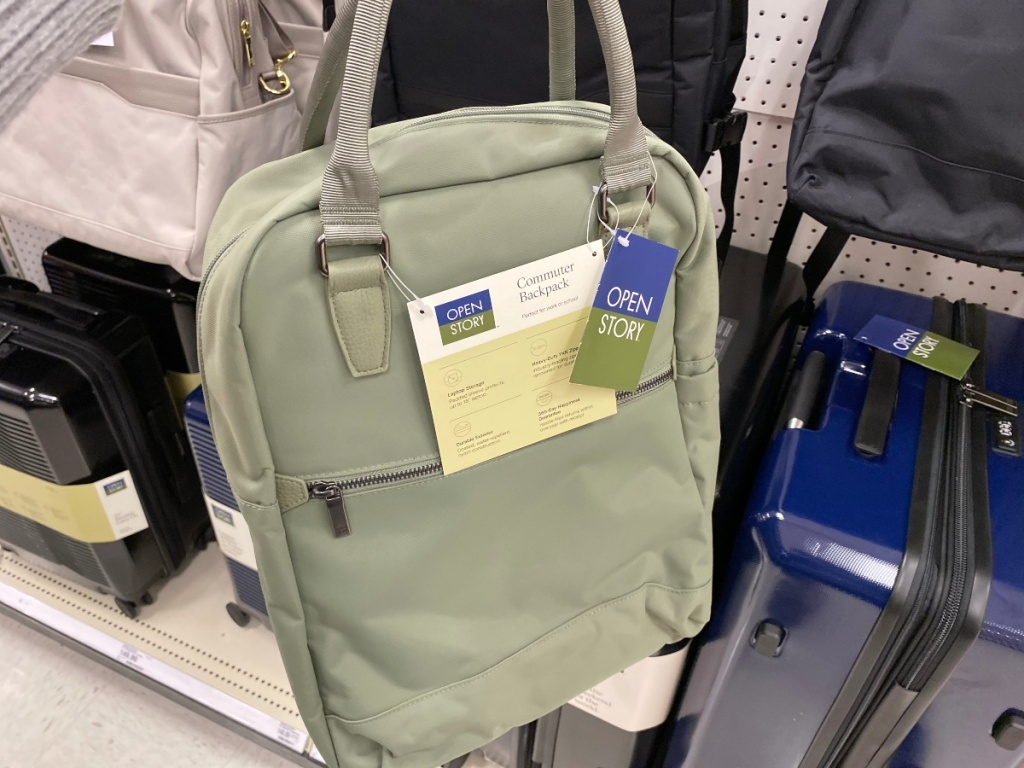 green backpack at Target