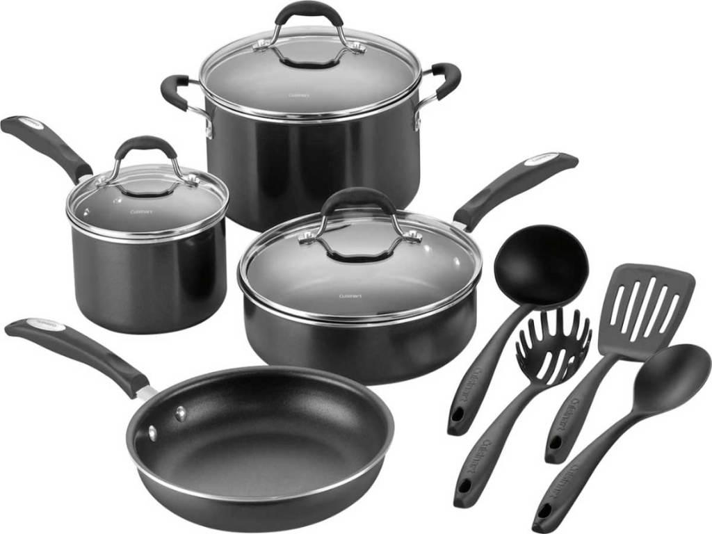 Cuisinart 11 Piece Non-stick Aluminum Cookware Set stock image