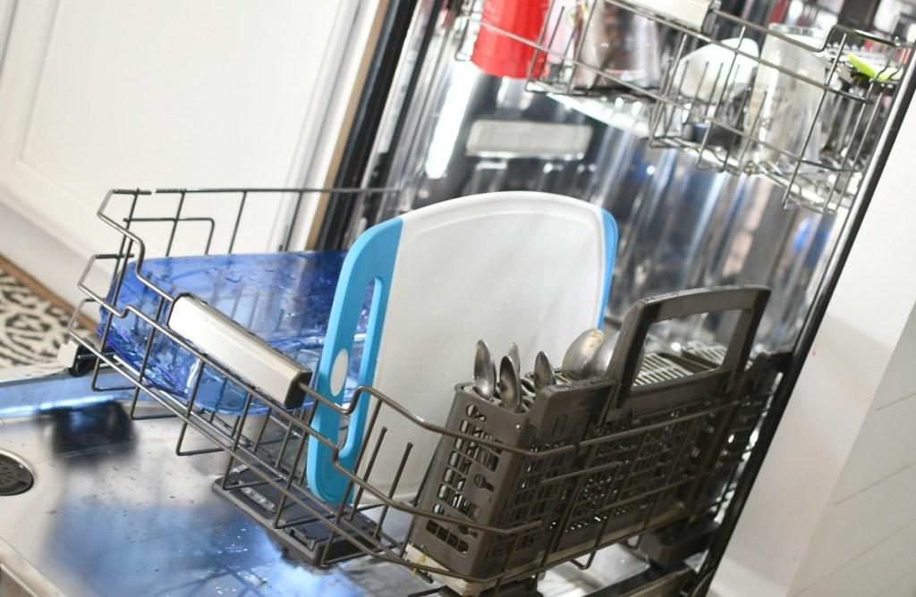 Gorilla cutting board in the dishwasher