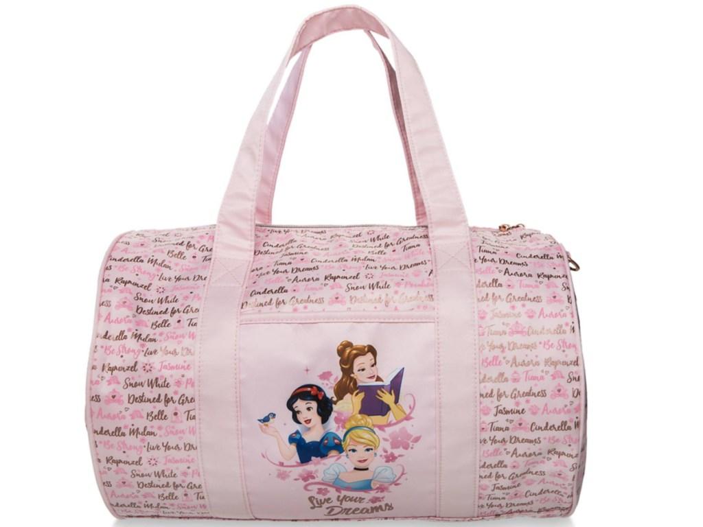 pink disney princess overnight bag