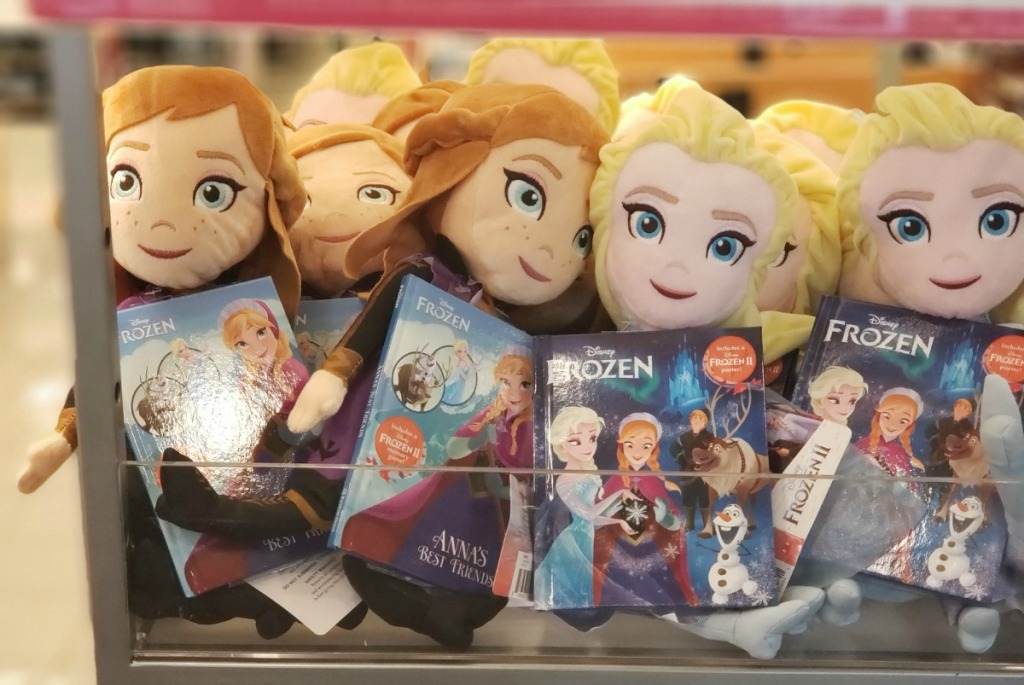 disney frozen anna and elsa dolls with books at kohls
