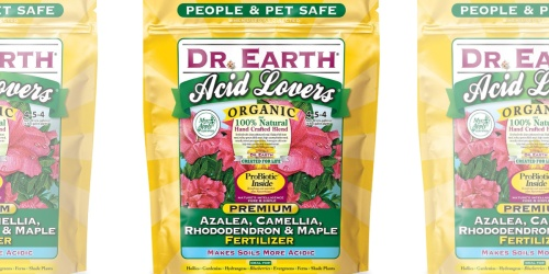 Dr. Earth Organic Fertilizer 4-Pounds Only $5 Shipped on Amazon (Regularly $18)