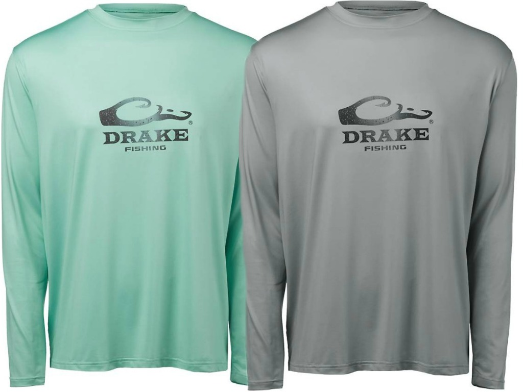 2 mens shirts in gray and teal