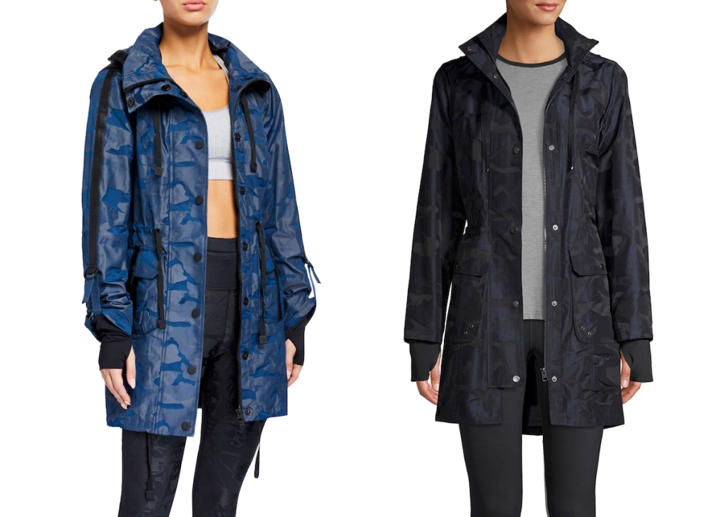 side by side of nieman marcus rain jacket and walmart rain jacket