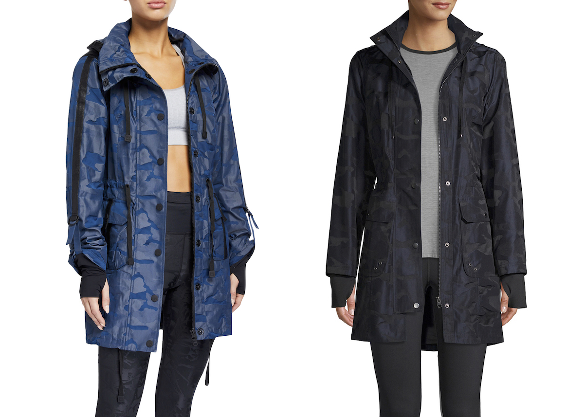 side by side of nieman marcus rain jacket and walmart rain jacket