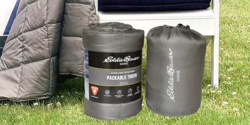 Eddie Bauer Packable Down Alternative Throws 2-Pack Only $11.99 at Costco   In-Store & Online