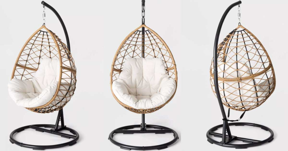 Score $100 Off This Trendy Hanging Egg Chair on Target.com