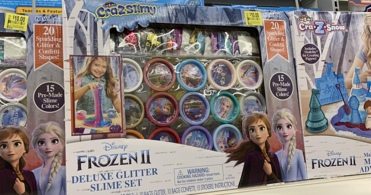 Frozen II deluxe glitter slime set in box