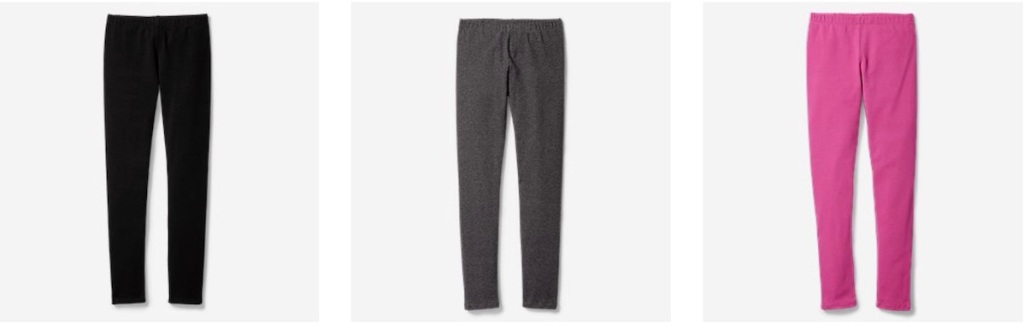 girls eddie bauer pants in charcoal, black and pink and