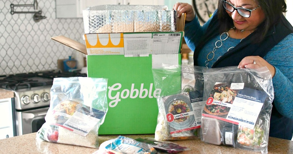 unboxing meals from Gobble