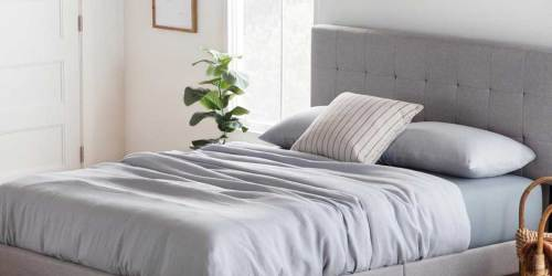 Upholstered Platform Bed Frames as Low as $104.99 Shipped on Home Depot (Regularly $150+)
