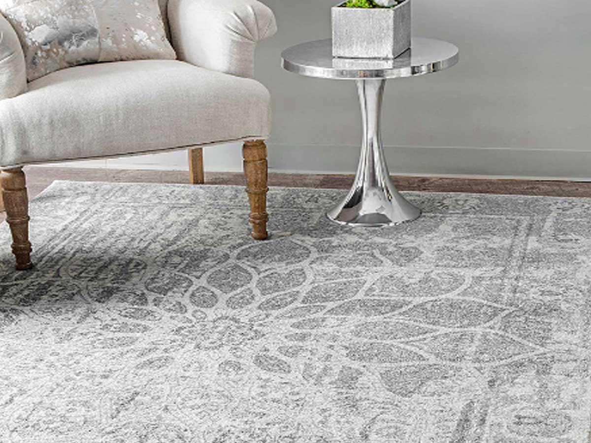 "nuLOOM Gray Distressed 5'x7'5"" Mandala Rug"
