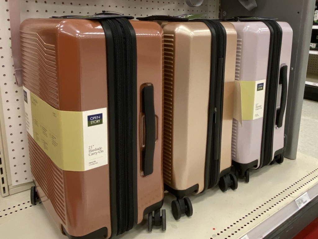 hardside carry-on luggage at Target