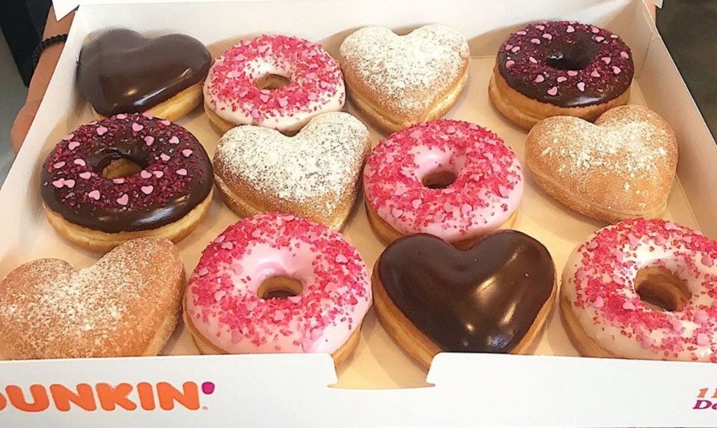 Valentine's Day doughnuts from Dunkin'