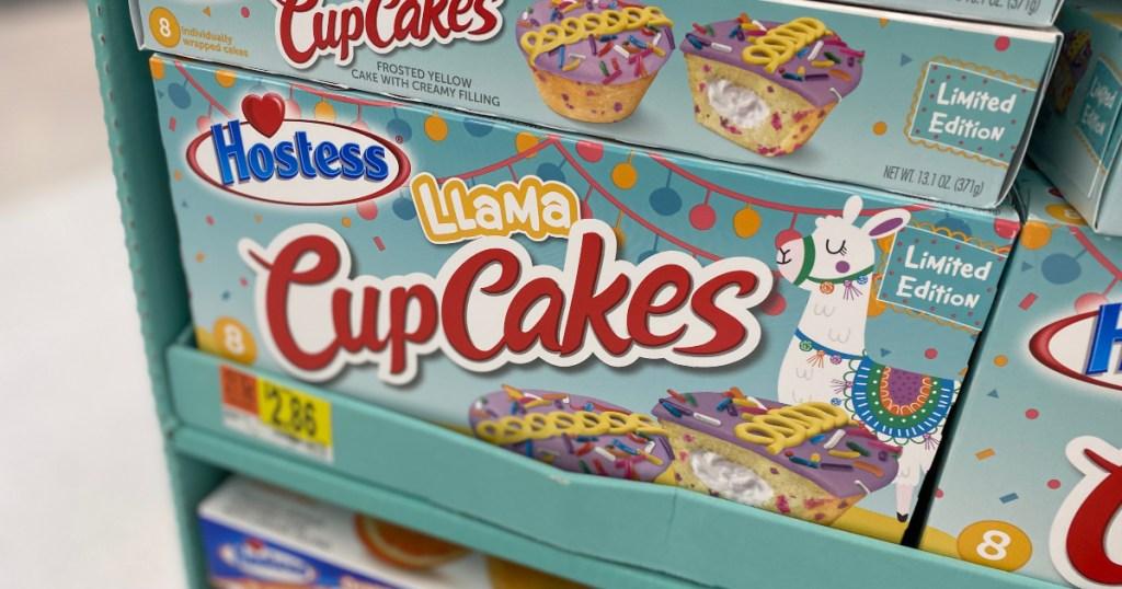 Hostess llama cupcakes at Walmart