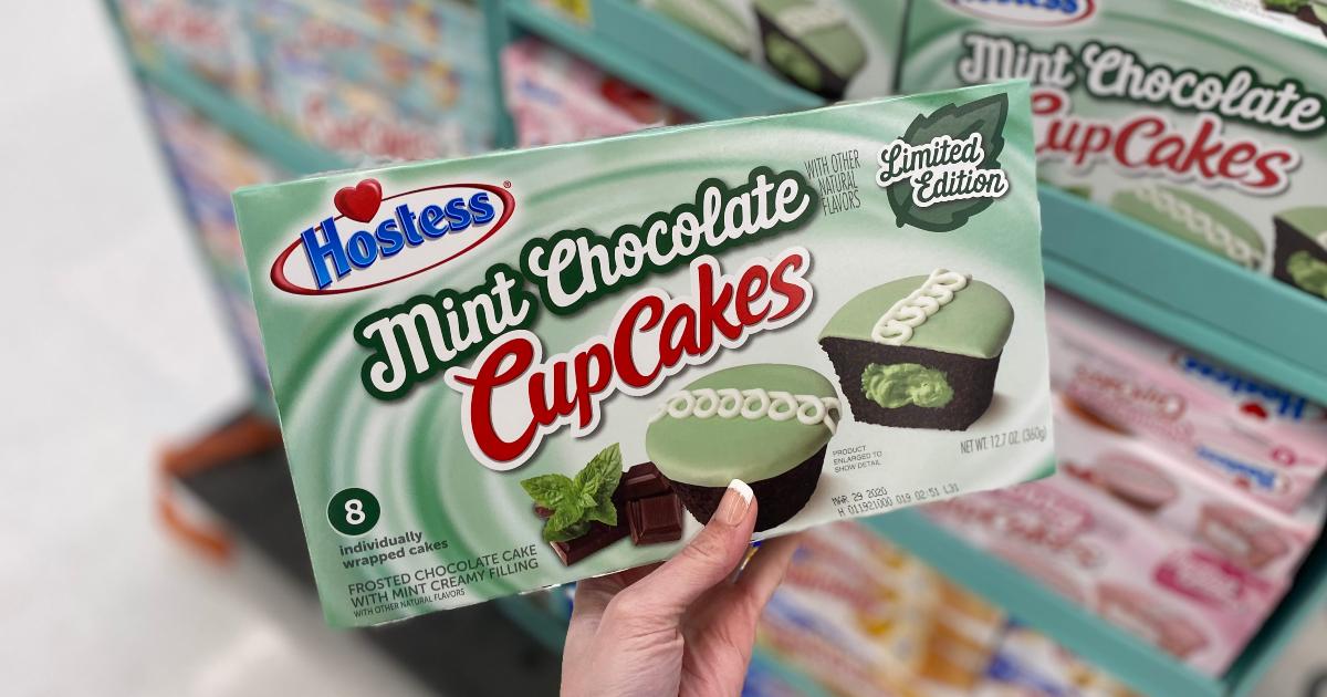 Hostess mint chocolate chip cupcakes