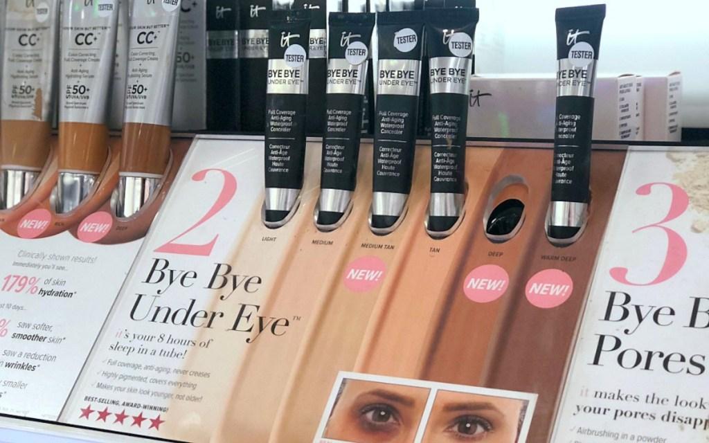display with it cosmetics bye bye under eye cream