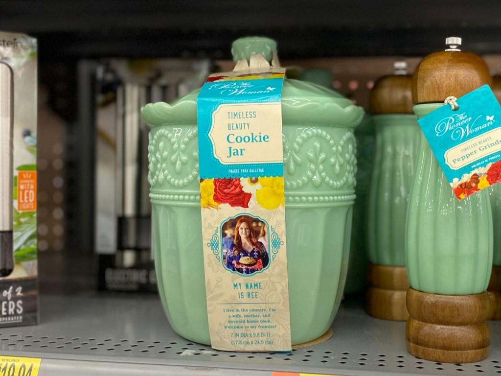 The Pioneer Woman Jade Green Milk Glass Butter Dish W// Lid Timeless Beauty NEW