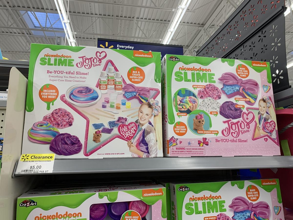 jojo siwa slime kits on store shelf