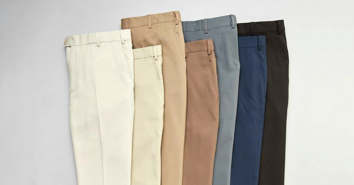 pairs of pants lined up
