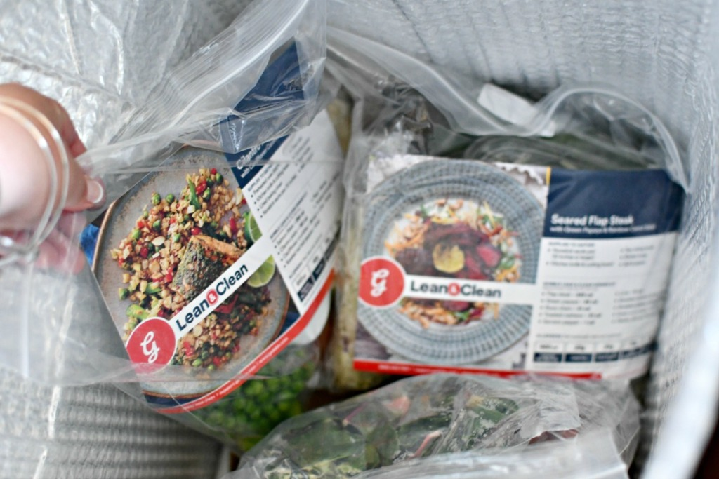 lean and clean gobble meals in a cold box