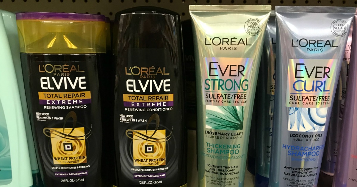 selection of hair care on store shelf
