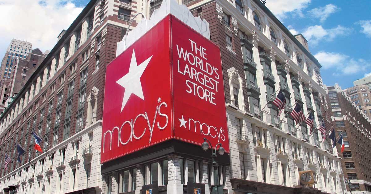 Macy's corner store front