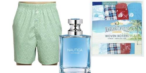 Margaritaville Men's Boxers 12-Pack + Nautica Cologne Just $39.99 on Woot.com