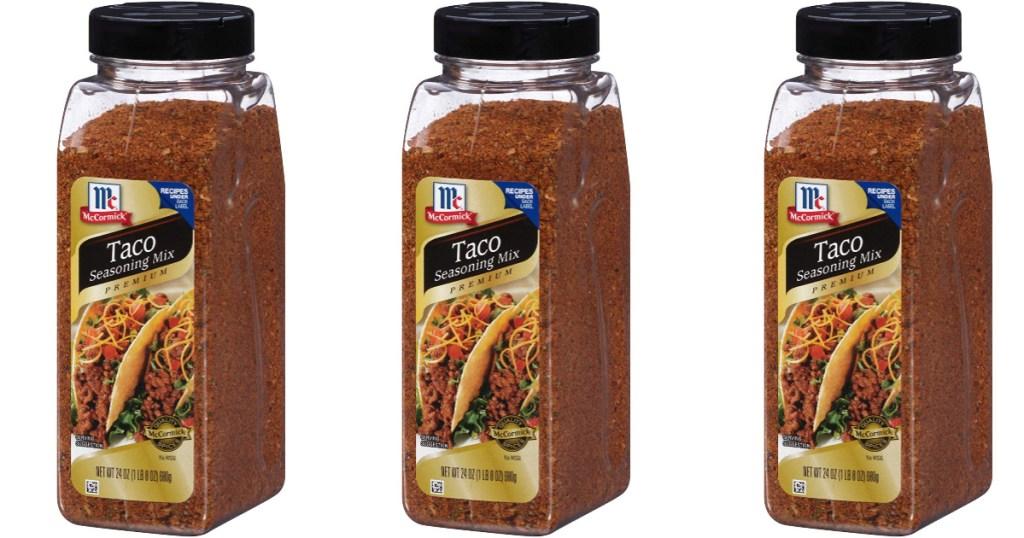 mccormck taco seasoning product display