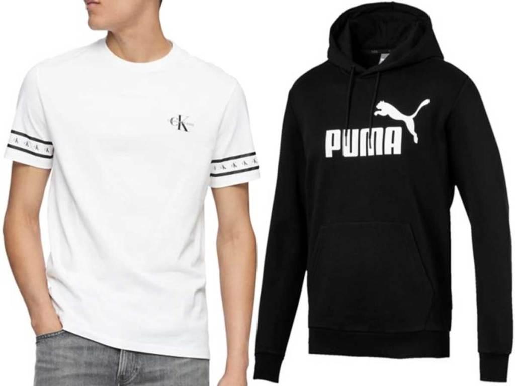 men's tshirt and sweatshirt