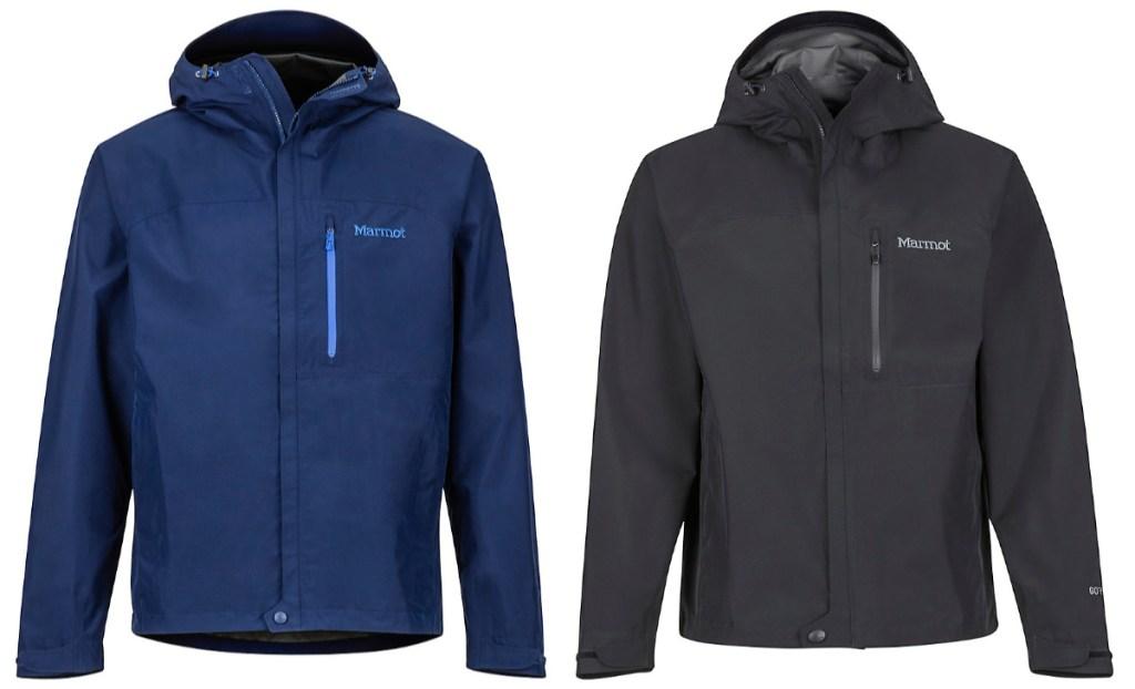 blue and black marmot jackets