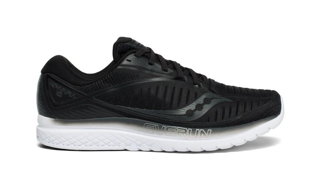 Black mens running shoe