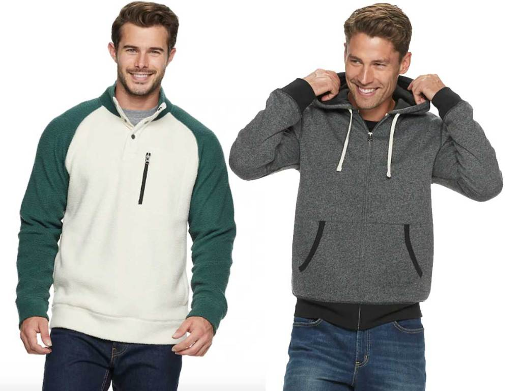 male models wearing sonoma men's good for life sweater