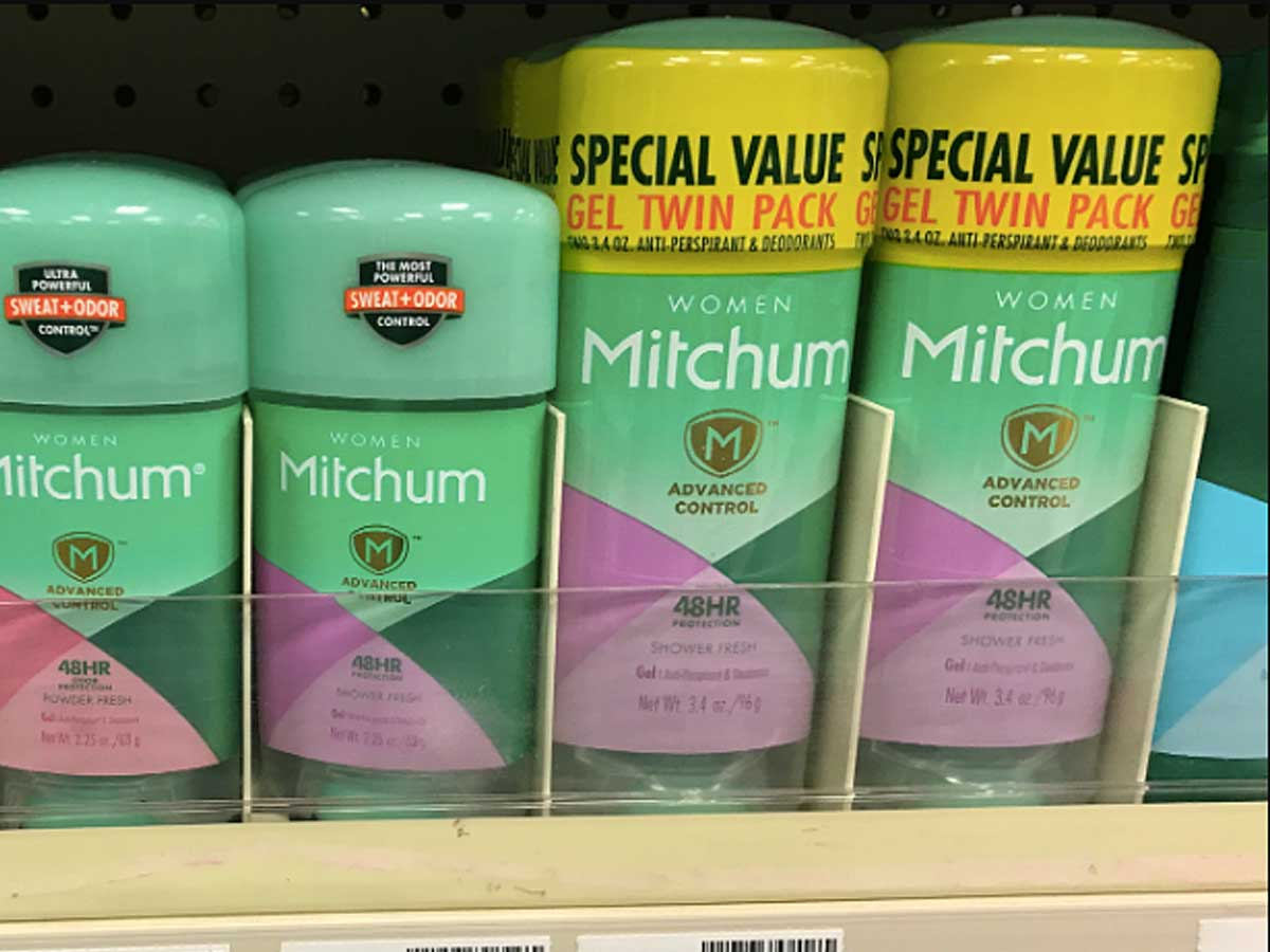 twin pack of deodorant on a shelf in a store